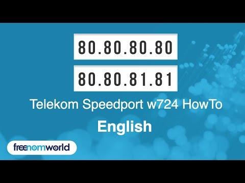 Freenom World Telekom Speedport W724 HowTo (English)