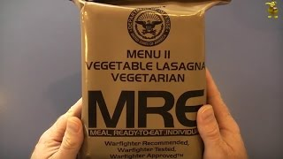 Mre Review - Menu 11 - Vegetable Lasagna (2012)
