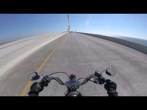 Sportster 72 - Riding 2-up to manatee viewing center - Apollo Beach FL