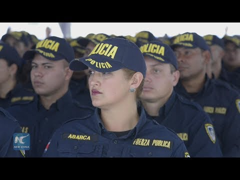 China donated police academy graduates first class of officers in Costa Rica