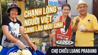 Ngất ngây gái xinh Lào bán bánh dừa bắn tiếng Việt tại Chợ chiều Luang Prabang