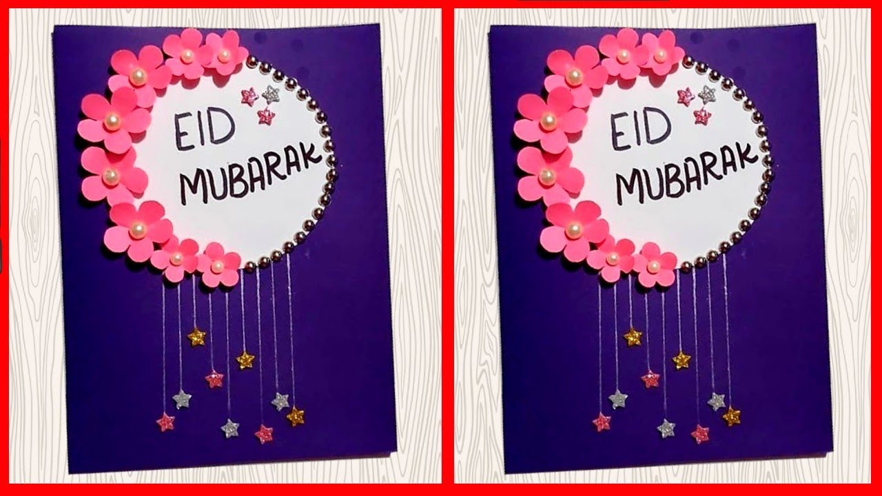 how to make eid mubarak card 💝  handmade easy card