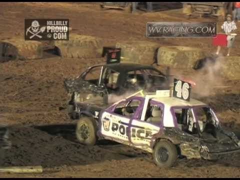 Kings of Karnage Demo Derby Full Size Cars Tyler County Speedway July 2, 2016
