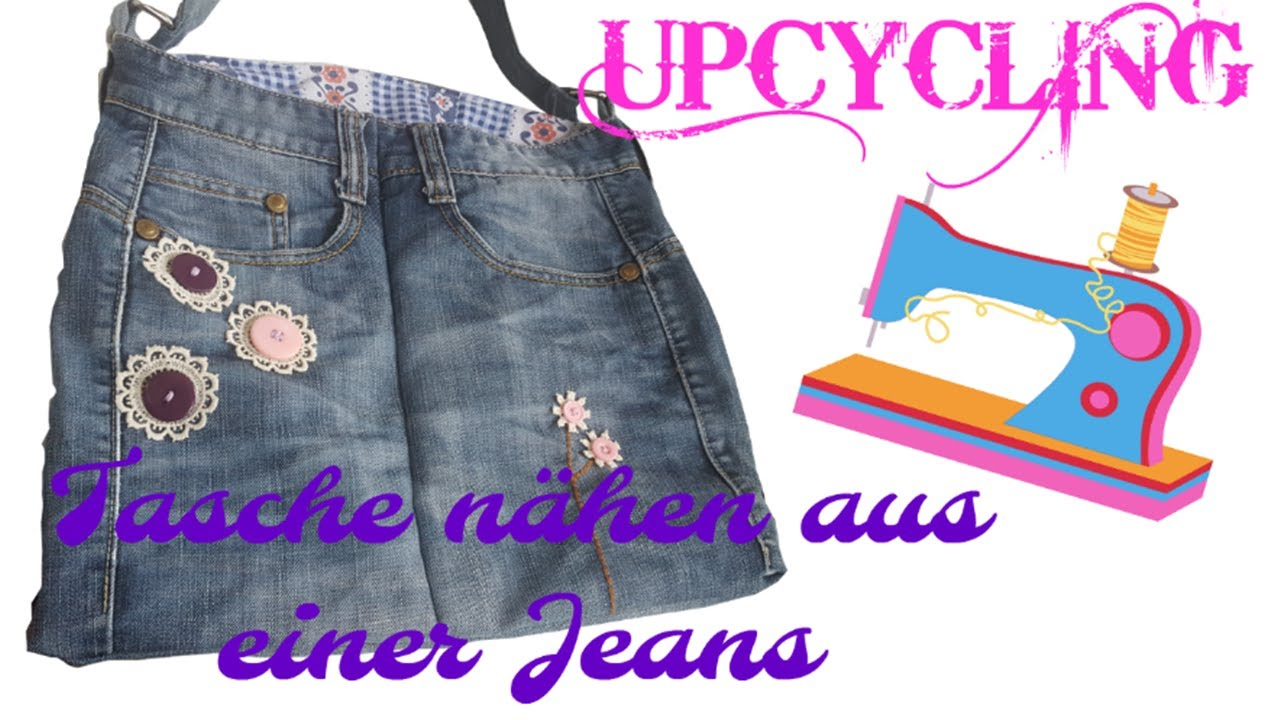 diy upcycling tasche n hen jeans upcycling n hen f r anf nger youtube. Black Bedroom Furniture Sets. Home Design Ideas