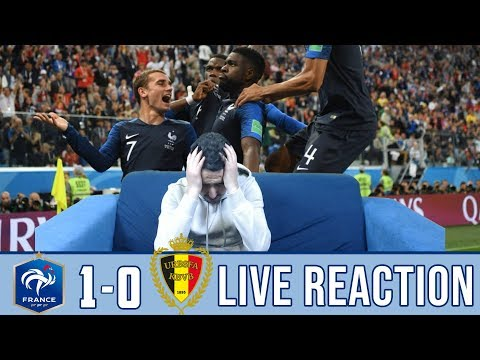 FRANCE 1-0 BELGIUM REACTION | BELGIAN FAN REACTION