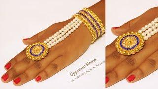 How To Make Beautiful Ring At Home | DIY | Making Bridal bracelet wrist & Ring /uppunutihome