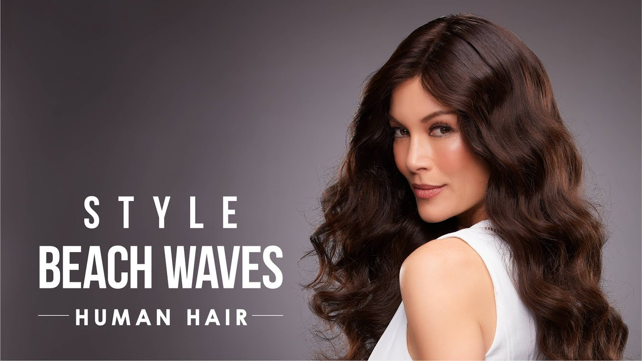 How To Style Human Hair Wigs For Beach Waves Human Hair Care Youtube