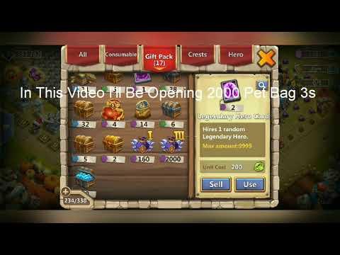 Castle Clash Opening 2000 Pet Bags 3
