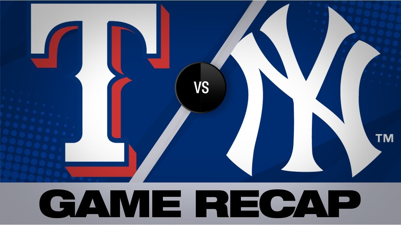 Judge, Torres power Yanks past Rangers | Rangers-Yankees Game Highlights 9/4/19