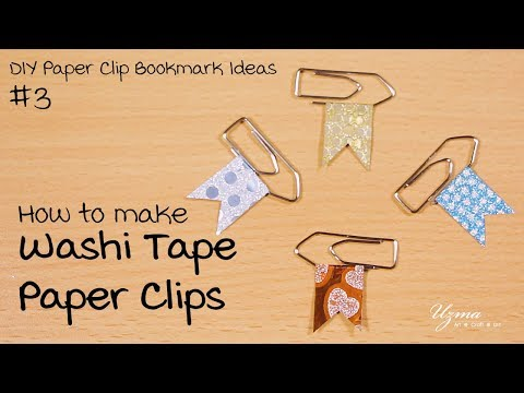 How to make Washi Tape Paper Clips | DIY Paper Clip Bookmark Ideas #3