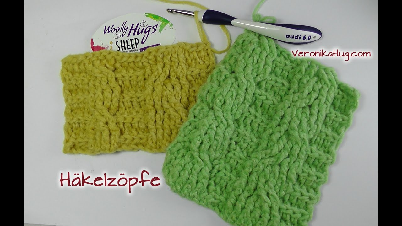 Häkeln Häkelzöpfe Zöpfe Woolly Hugs Sheep Veronika Hug Youtube