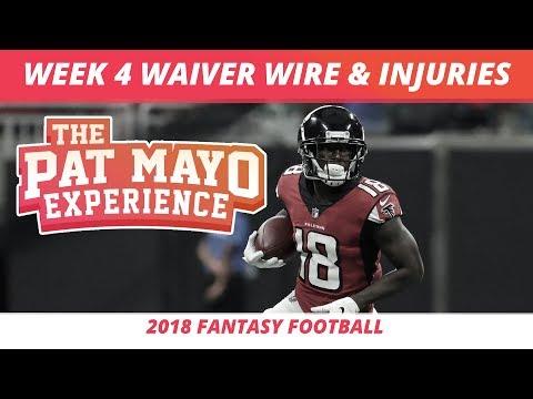 2018 Fantasy Football — Week 4 Waiver Wire Rankings, Injuries, Recap + More