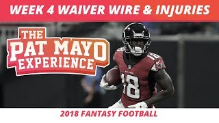 2018 Fantasy Football — Week 4 Waiver Wire Rankings, Injuries, Recap + More