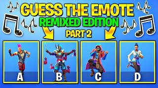 Guess The Fortnite Dance... BUT With Remixed Music..!