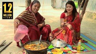 দারুণ মজার রান্না 'ওলকচু দিয়ে হাঁসের মাংস' । Delicious Cooking with Duck and Elephant Foot Arrayed