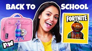 Fortnite DIY back to school challenge w. Bethany Mota!