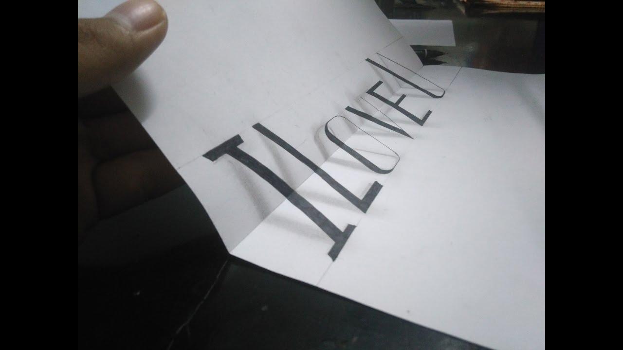 Vẽ 3D chữ  ,3D Đẹp và đơn giản || Đa Dạng channel