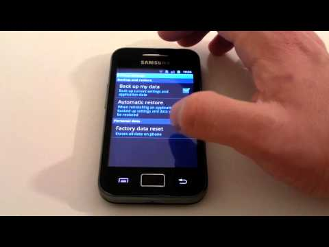 """""""How To"""".. Factory Reset - Samsung Galaxy Ace"""