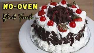 Homemade No-Oven Black Forest Cake