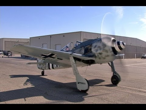 Focke-Wulf FW 190 Luftwaffe Fighter Flight Demo- Big Radial-Engine Thunder!