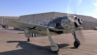 Focke-Wulf FW 190 Luftwaffe Fighter Flight Demo- Big Radial-Engine Thunder!