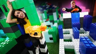 NERF Impossible LEGO Obstacle Course Challenge!