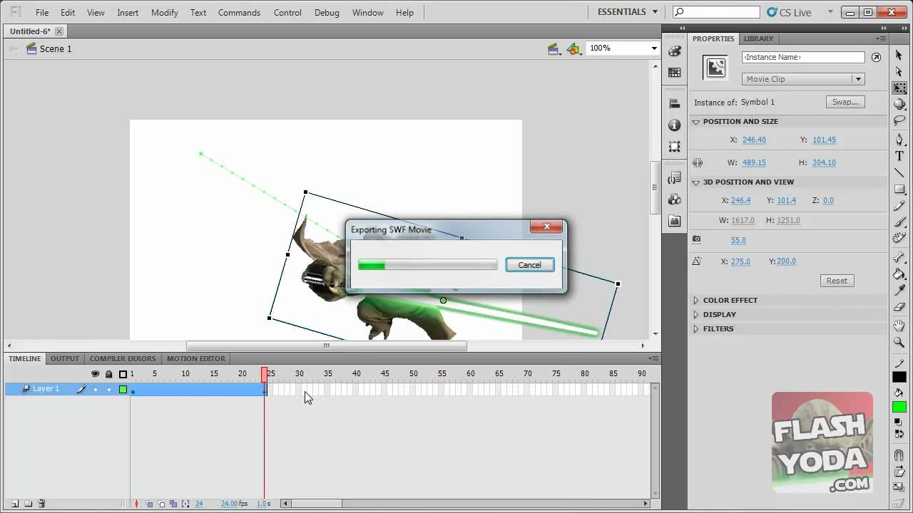 flash cs5 tutorial basic motion tween youtube rh youtube com CS5 Logo Adobe Flash CS5 Tutorial