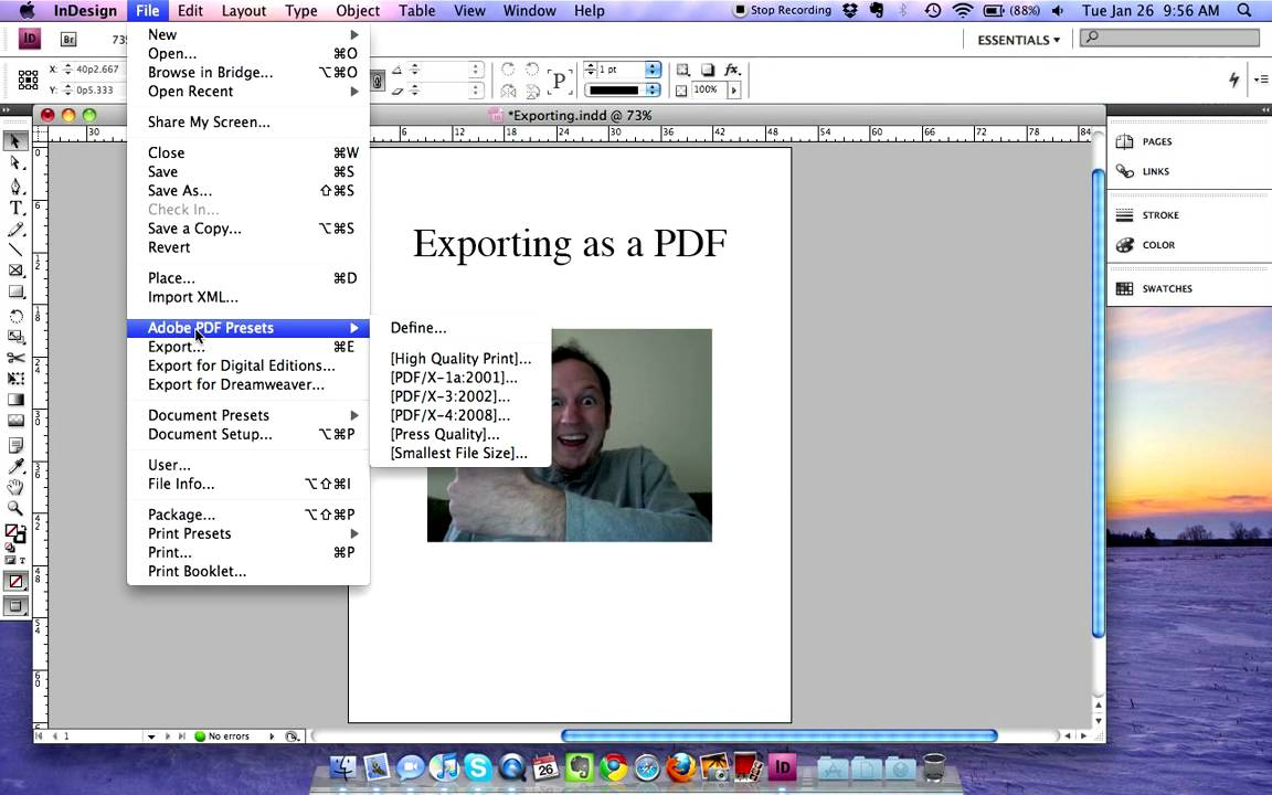 how to make a pdf in indesign