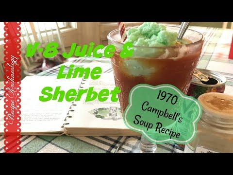 V-8 with Lime Sherbet - 1970 Campbell's Soup recipe