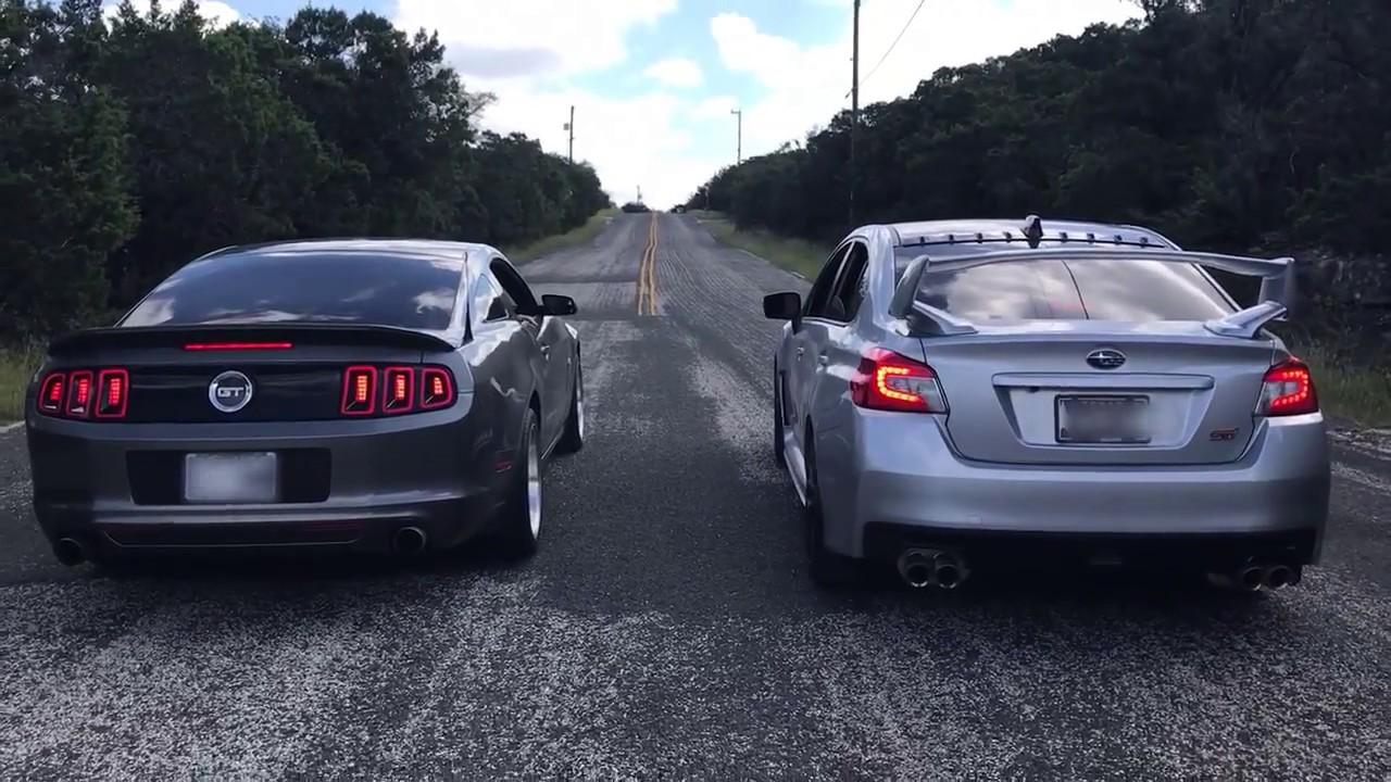 2013 Mustang 5 0 Vs 2018 Subaru Sti