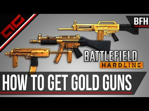 How To Unlock Gold Guns - Battlefield Hardline Guide (Commentary/Gameplay)