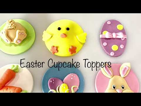 Easter Cupcake Toppers - Bunny bottom