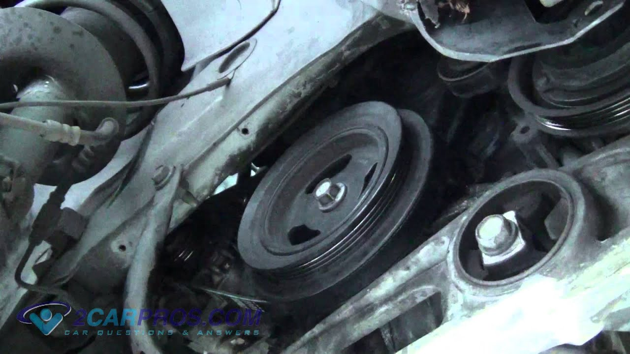 serpentine belts replacement chrysler pt cruiser youtube rh youtube com 2003 PT Cruiser Wiring-Diagram PT Cruiser Parts Diagram