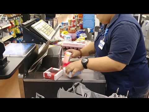 Fastest cashier at Wal-Mart