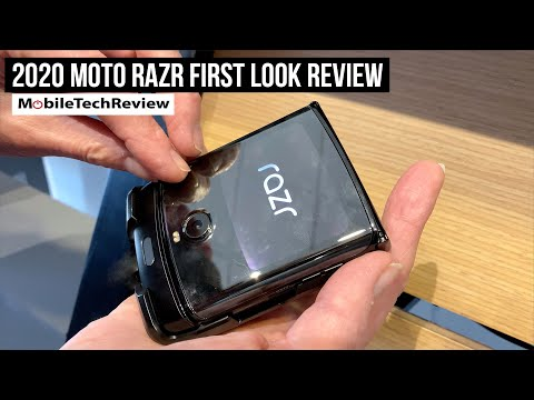 Moto Razr 2020 First Look Review - Foldable Screen Flip Phone