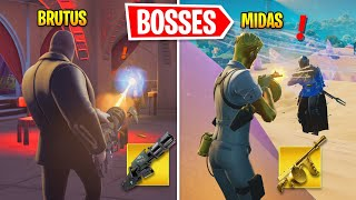 I Eliminated NEW Bosses As OLD Bosses In Fortnite