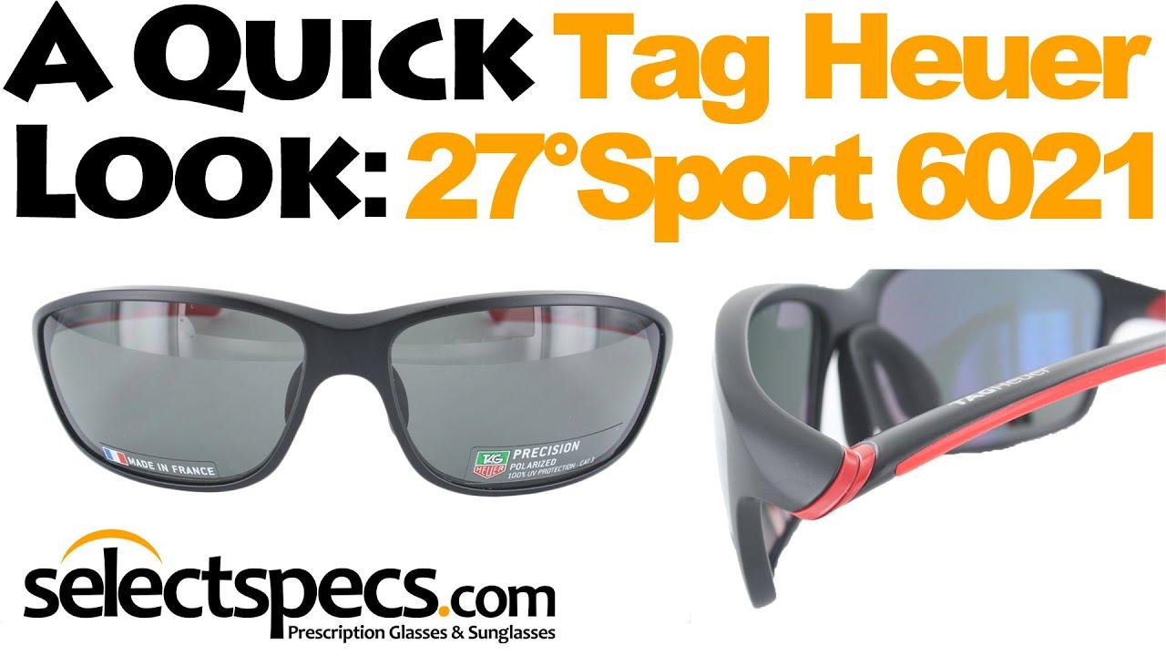 b459d7f5cd A Quick Look  Tag Heuer 27° Sport 6021 Matte Black   Red Sunglasses - With  SelectSpecs.com