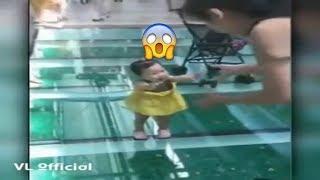Reaksi Bayi Di Jembatan Kaca Di China Ngakak