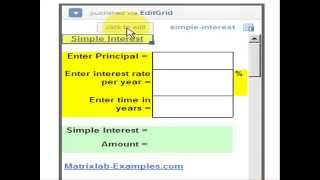 calculation for simple interest loan