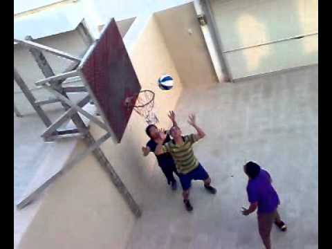 Playing Basket Ball @ Villa