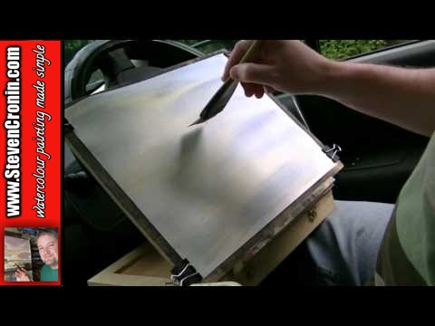 Watercolour painting in my car at Kingsbury Water Park #1