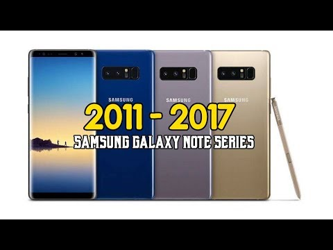 The Evolution of Samsungs Galaxy NOTE To NOTE 8  2011-2017