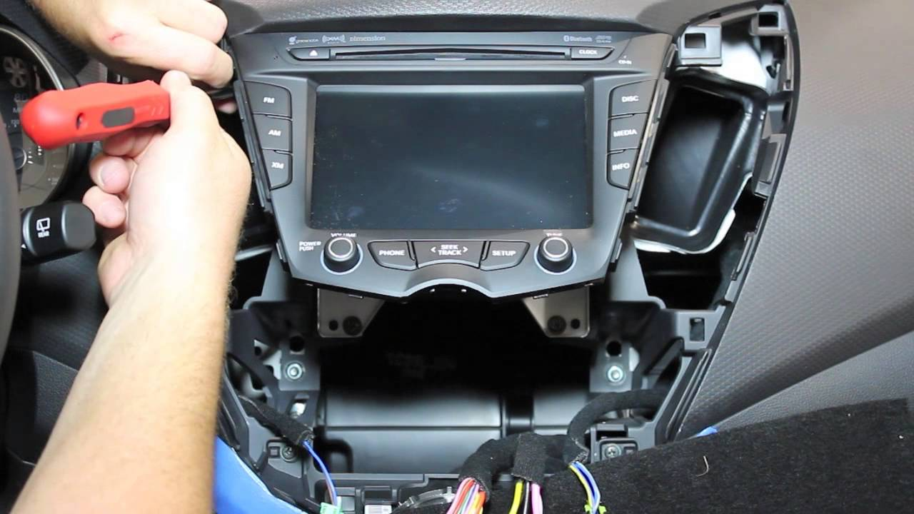 hyundai veloster radio removal youtube