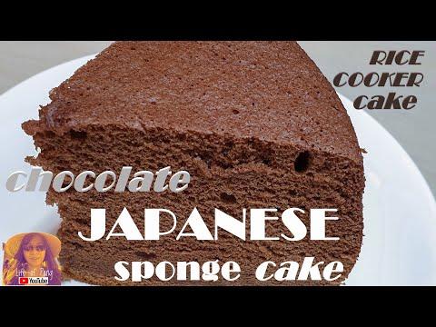 easy-rice-cooker-cake-recipes:-chocolate-japanese-sponge-cake-|-no-oven-cake-recipes