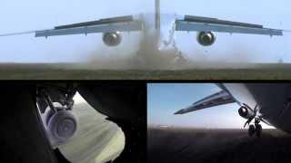 Antonov AN-148 unpaved runway take-off and landing