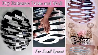 Diy Table And Wall Decor For Small Spaces! Diy Table With Matching Wall Decor.