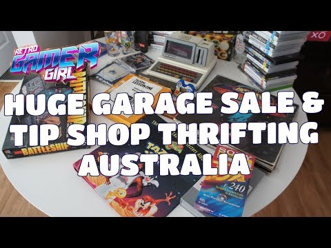 HUGE Community Garage Sale & Tip Shop Thrifting Australia! | Retro Gamer Girl