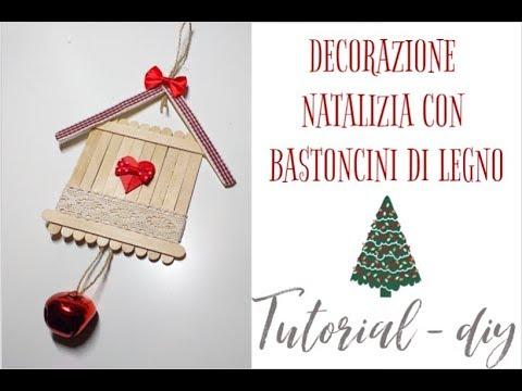 Decorazioni Natalizie Con Foto.Decorazione Natalizia Con Bastoncini Di Legno Tutorial Diy Christmas2019 Youtube