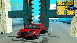 Не разбей тачку челлендж машинки гонки прохождение игры #5  - Speed Car Bumps Challenge Deadly Race