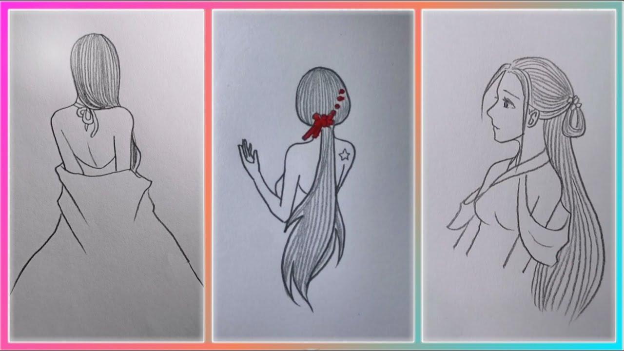 Tranh Vẽ Cô Gái bằng Bút Chì Đơn Giản của Cao Thủ Tik Tok Trung Quốc (P4)